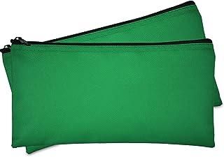 حقيبة نقود من DALIX، حقيبة نقود، حقيبة عملات نقدية بسحاب للأمان، خضراء اللون، عبوة من قطعتين
