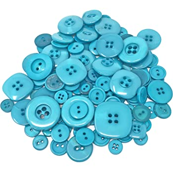 Brights 100 Gram Mix Acrylic /& Resin Buttons For Cardmaking Embellishments