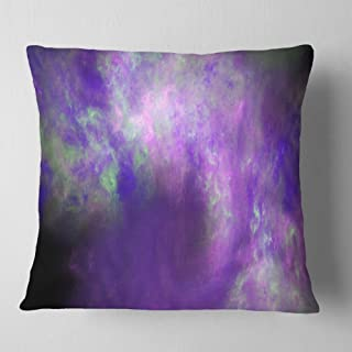 Designart Perfect Light Purple Starry Sky' Abstract Throw Cushion Pillow Cover for Living Room, sofa 18 in. x 18 in