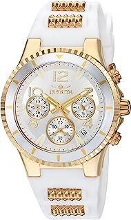 Women's BLU Quartz Watch with Silicone Strap, White, 24 (Model: 24187)