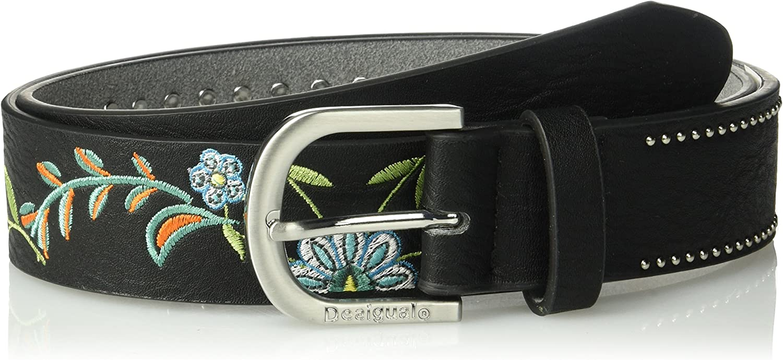 Desigual womens Tina Basico Belt With Stitched Details Belt