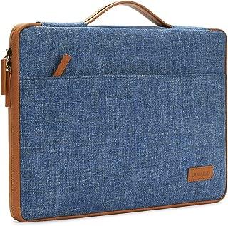 DOMISO 15.6 Inch Laptop Sleeve Canvas Notebook Portable Carrying Bag Case Handbag for 15.6