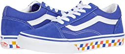 (Tri Checkerboard) Royal Blue/True White