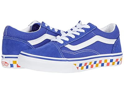 Vans Kids Old Skool (Little Kid) ((Tri Checkerboard) Royal Blue/True White) Kids Shoes