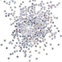 Maman Shaker carte Silver//Gold Glitter Star Carte de Noël 19x19cm