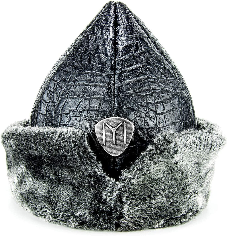 Miss Tesettür Turkish Ottoman Bork Hat, Ertugrul Faux Leather Fur Winter Cap