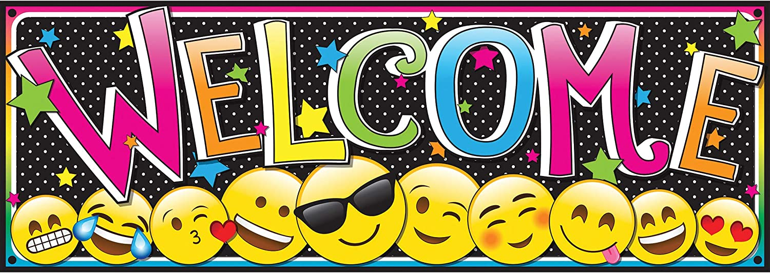 New sales Ashley Magnetic Emoji Welcome Banner 17