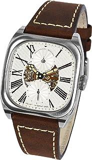 POLJOT International - BOLSHOI-Classic - Reloj de pulsera mecánico para hombre, correa de piel marrón