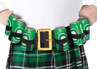 amscan Lucky Irish Green St. Patrick's Day Drinking Belt Party Supply, Black, Fabric & Plastic , 36
