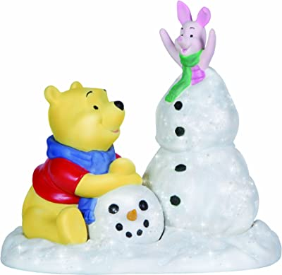 """Precious Moments, Disney Showcase Collection, Christmas Gifts, """"Frosty Sort Of Fun"""", Bisque Porcelain Figurine, 131702"""