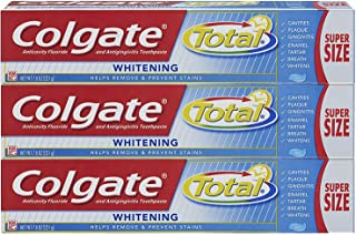 Colgate Total Whitening Toothpaste, Gel - 7.8 Ounce (Pack of 3)