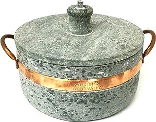 Ancient Cookware Brazilian Soap Stone Semi Pressure Cooker, Panela de Pedra de Pressao