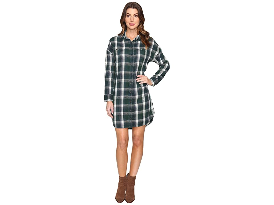 Alternative Yarn-Dye Flannel Timberwood Shirtdress (Green Plaid) Women