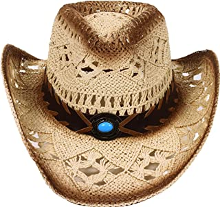 Simplicity Men's & Women's Western Style Cowboy/Cowgirl Straw Hat