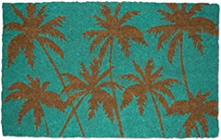 DII Indoor/Outdoor Natural Coir Fiber Spring/Summer Doormat, 18x30, Palm Beach