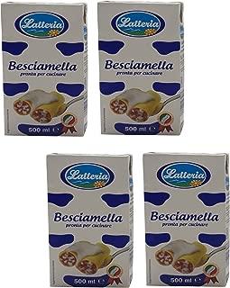 Latteria: Italian Besciamella (Béchamel Sauce) 16.9 Fluid Ounce (500ml) Packages (Pack of 4)