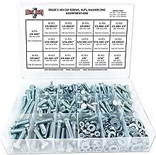 Grade 5 Hex Cap Screws, Hex Nuts, Flat & Split Washers Assortment Kit