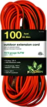 GoGreen Power GG-13700 – 16/3 100' SJTW Outdoor Extension Cord – Lighted End
