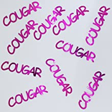 Metallic Confetti Word - COUGAR in 12 Colors (Also Available in Paper) #4152