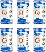 Intex Pool Easy Set Type B Replacement Filter Pump Cartridge (6 Pack)   29005E