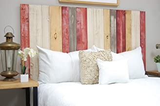 Country Mix Headboard Queen Size, Hanger Style, Handcrafted. Mounts on Wall. Easy Installation
