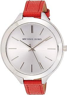 ساعة كوارتز مايكل كورس للنساء، شاشة انالوج وسوار جلدي MK2272