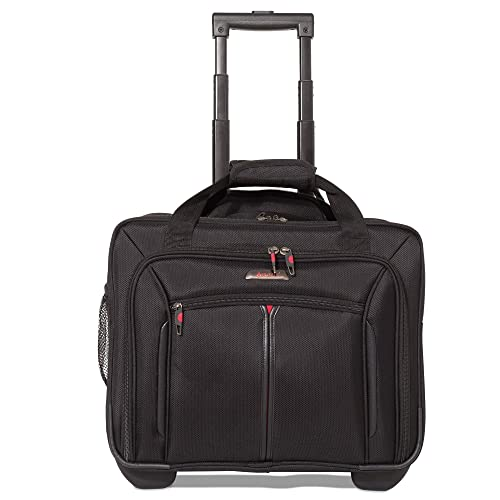 """6147e55df514 Aerolite 17"""" Executive Cabin Luggage Business Bag Laptop Bag with Wheels –  Approved for Ryanair"""