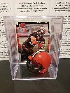 Myles Garrett Cleveland Browns Mini Helmet Card Display Collectible Case Auto Shadowbox Autograph