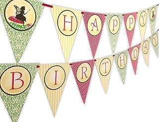 Woodland Fairy Happy Birthday Banner Pennant