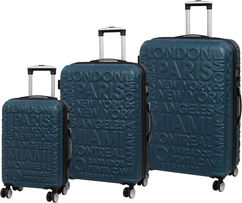 54 cm Bleu it luggage Destinations II 8 Wheel Hard Shell Single Expander Suitcase with TSA Lock Valise Legion Blue 48 liters
