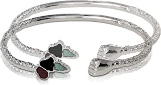 925 Sterling Silver African Power Bangles (Pair)