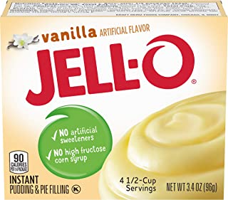 JELL-O Vanilla Instant Pudding & Pie Filling Mix (3.4 oz Boxes, Pack of 24)