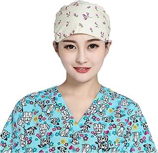 Nothar Women's and Men's Scrub Hat Bouffant Scrub Cap One Size Multi Color