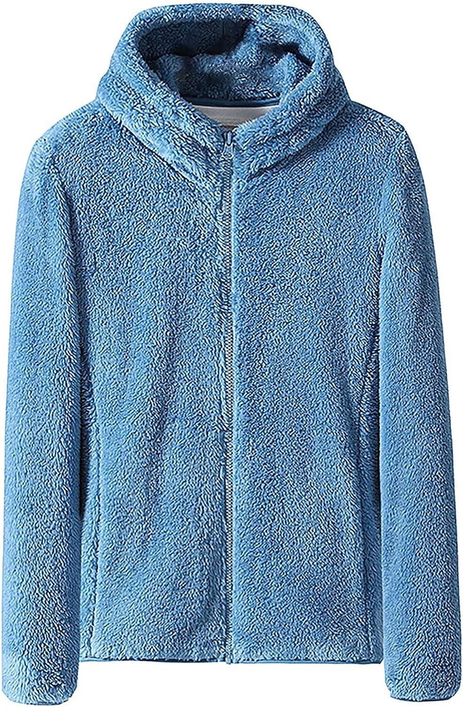 Muxing Zipper jacket Coat for women Hooded Trench Outwear Winter Warm Wool Cotton Faux Fur Lined Overcoat