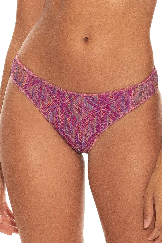 Becca by Rebecca Virtue Women's Mosaics Adela Tab Side Hipster Bikini Bottom