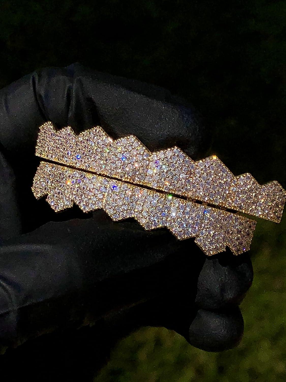 Shop-iGold Mens Womens 14k Gold Finish Jewelry Chain Pendant Set Grillz