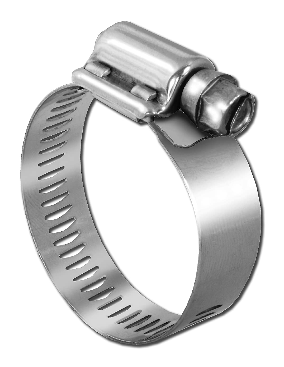 Pro Tie 33509 SAE Size 056 Range 3-1/16-Inch-4-Inch Heavy Duty All Stainless Hose Clamp, 4-Pack