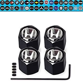 Custom Tire Valve Stem Caps (35 Vehicle Models) Anti-Theft Hexagon Design   Car, Truck, SUV   Leakproof, Airtight, Dustproof Seal   All-Weather, Lock Tight Fit (for Honda Vehicles)