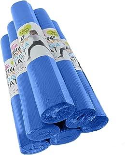 Hello Fit - Kid's Short Yoga Mats - Economical 6-Pack - Nontoxic - Non-Slip - Moisture Resistant