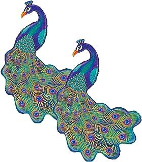 "Set of 2 Graceful Glitter Peacock Jumbo 42"" Foil Party Balloons"