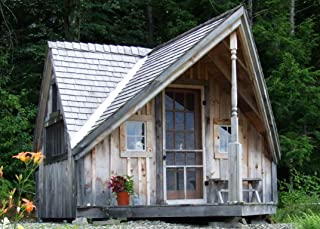 Timber Frame Post and Beam One Room Cabin - 12x14 Writers Haven - Step-By-Step DIY Plans