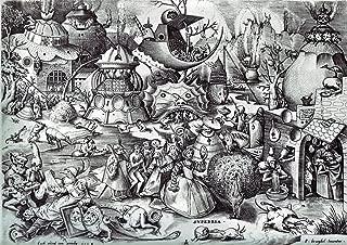 Pieter Bruegel the Elder: The Seven Deadly Sins - Pride. Fine Art Print/Poster. (42cm x 29.7cm)