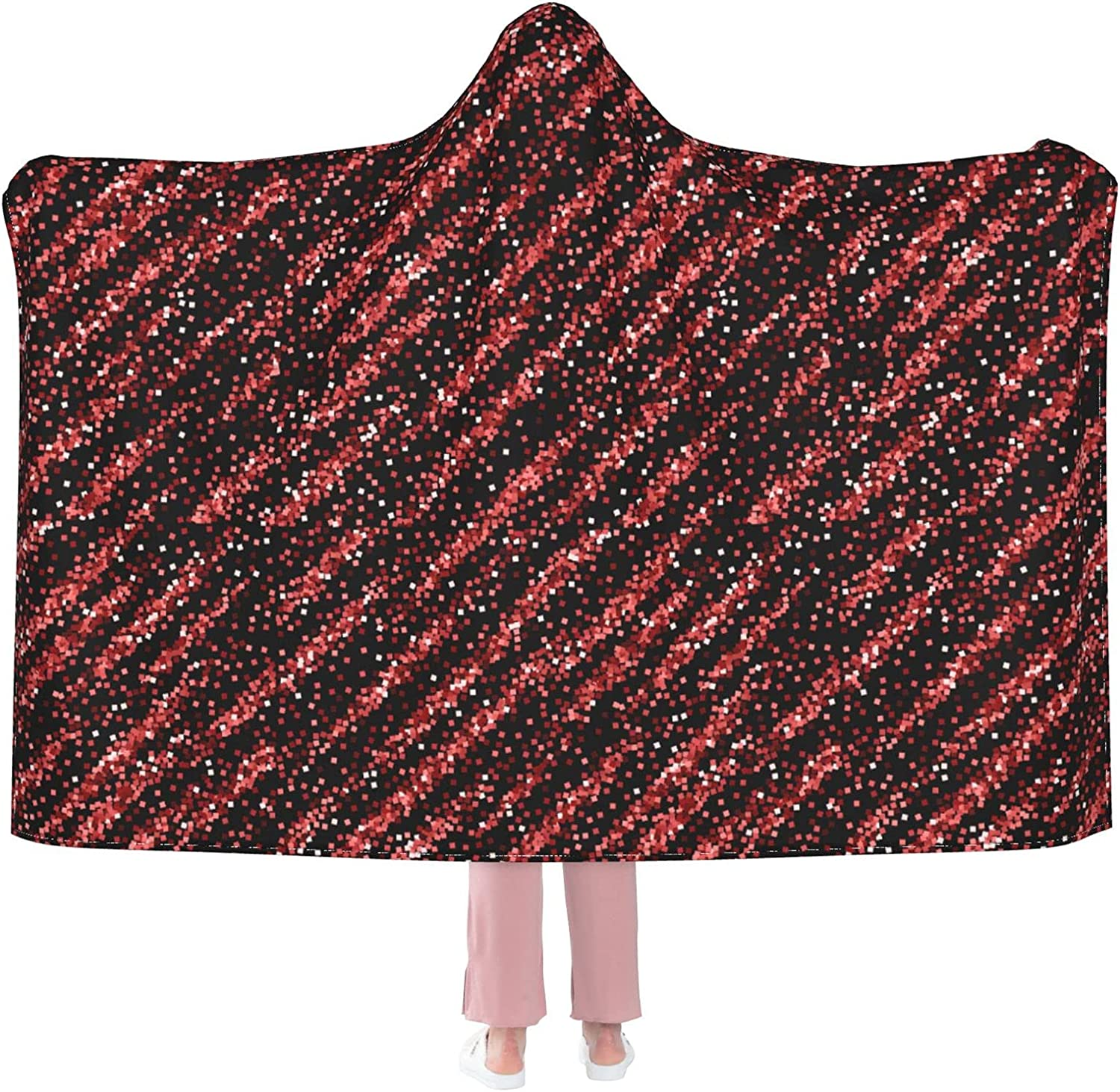 Red Gold Glitter Luxury Sparkling Discount mail Weekly update order Anti-P Blanket Hooded Confetti