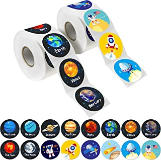 "600 PCs Solar System Stickers in Rolls with Perforation Line. Perfect for Toddlers and Kids. 1.5"" (Expanded Edition with A..."