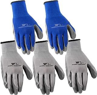 Wells Lamont Nitrile Work Gloves, 5 Pack, Large (580LA)