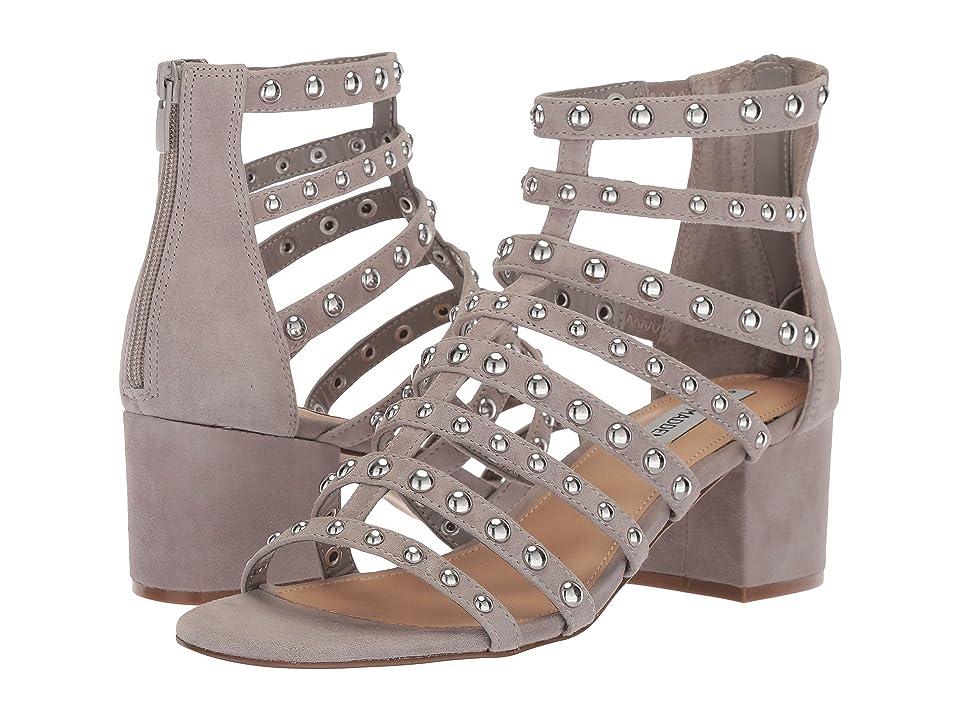 Steve Madden Mania Block Heeled Sandal (Grey Multi) Women