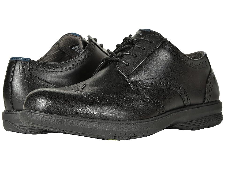 Nunn Bush Maclin Street Wing Tip Oxford with KORE Slip Resistant Walking Comfort Technology (Black) Men