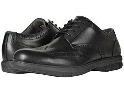 Nunn Bush Maclin Street Wing Tip Oxford with KORE Slip Resistant Walking Comfort Technology (Black) Men