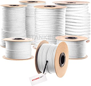 Seilwerk STANKE Polypropylen Seil geflochten PP Seil Polypropylenseil WEISS Festmacher Flechtleine Tauwerk Tau Reepschnur, 4mm, 50m