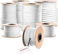 Seilwerk STANKE gevochten touw van polypropyleen WIT zeilen touw, koord - 20mm, 100m